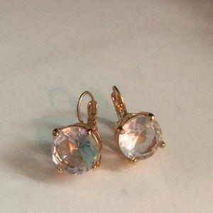 Kate Spade HUGE hinge back drop earrings